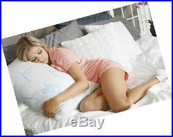 Sleep Whale Premium Adjustable Shredded Memory Foam Pillow Derived from Bam