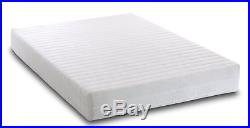 Small Double Memory Foam Reflex 3 Zone Mattress with Quilted Cover 2x Fibre Pillow