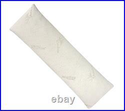 Snuggle-Pedic Ultra-Luxury Bamboo Shredded Memory Foam Full Size Body Pillow x