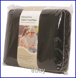 Soft Velour Memory Foam Contour Car, Plane, Home Travel Pillow / Cushion Black