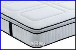 Square Quilted Pocket Series 3000 Memory Foam Pillow Top Mattress 3ft4ft65ft 6ft