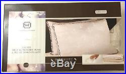 Stearns & Foster Pillow Estate Deluxe Memory Foam with Down Cover Sz King Lot of 2