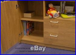 Supreme Oak Effect Midsleeper Bed With Storage And Desk 2 FREE PILLOW OFFER