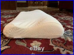 TEMPUR Tempurpedic Original Contour Neck Bed Pillow Beige New Queen 24 X 12 X 4