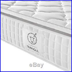 TRANQUIL Pillow-Top Memory Foam & 5-Zone Pocket Springs Mattress, TRA-02