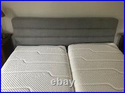 Tempur Adjustable/ Massage Superking Bed with 2 x Cloud mattreses & 2x pillows