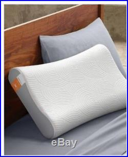 Tempur-Pedic Pillow Memory Foam Contour Curved-Design Standard Side to Back