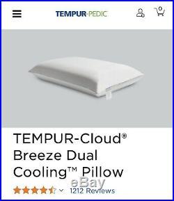 Tempur-Pedic TEMPUR-Cloud Breeze Cooling Memory Foam King Pillow