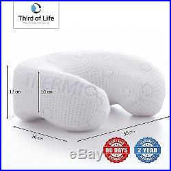 The ANDAR Travel neck pillow Crescent-shaped memory foam Orthopaedic with