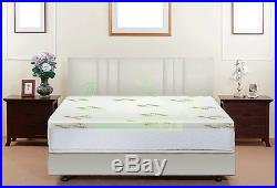 The Bamboo Pillow Memory Foam Mattress Topper Hypoallergenic Comfortable Support