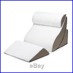 Therapeutic Bed Cushions 4 Piece Removable Cover Headrest Knee Rest Memory Foam