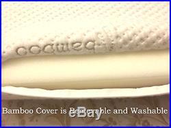 Thin Profile Memory Foam Neck Pillow Orthopedic Contour Chiropractor Design