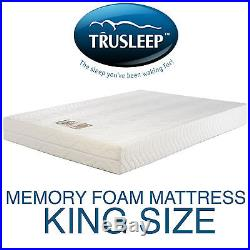 Trusleep Classic 200 Max King 5ft Memory Foam Mattress + Pillows + Free Delivery