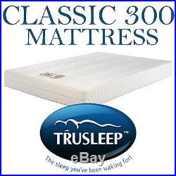Trusleep Classic 300 Double Visco Elastic Memory Foam Mattress &Pillows Free P+P