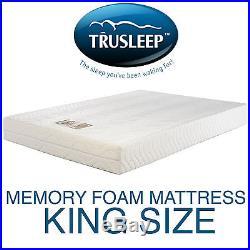 Trusleep Classic 300 King Visco Elastic Memory Foam Mattress & Pillows Free P+P
