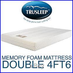 Trusleep Classic 400 Double Visco Elastic Memory Foam Mattress &Pillows Free P+P
