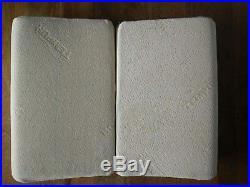 Used Tempur memory foam pillows x2 original RRP £85 each