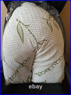 V Shape Bamboo Pillow Memory Foam Orthopaedic & Pregnancy Extra Filled Pillow