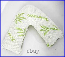 V Shape Bamboo Pillow Memory Foam Orthopaedic & Pregnancy Extra Filled Pillow UK