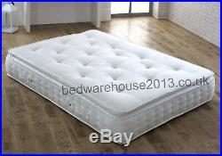 Verona Pillow top 2000 Pocket Spring Memory Foam Mattress 3ft 4ft /4ft6 5ft 6ft