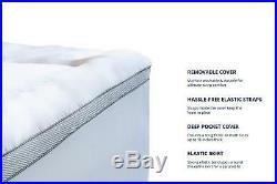 ViscoSoft 4 Dual Layer Luxury Gel & Quilt Pillow Top Queen Mattress Topper NIB