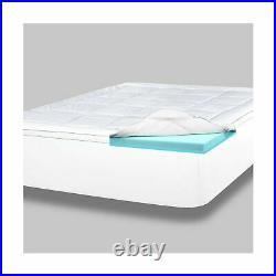 ViscoSoft 4 Inch Pillow Top Gel Memory Foam Mattress Topper King Serene Dual