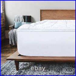 ViscoSoft 4 Inch Pillow Top Gel Memory Foam Mattress Topper Twin XL Serene