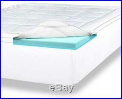 ViscoSoft 4 Inch Pillow Top Memory Foam Mattress Topper Queen Serene Lux Dual