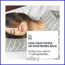 ViscoSoft 4 Inch Pillow Top Memory Foam Mattress Topper Queen Serene Lux Pad