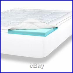 ViscoSoft 4 Pillow Top Gel Memory Foam Mattress Topper King Dual Layer Pad