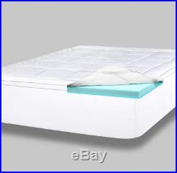 ViscoSoft 4 inch Dual Layer Memory Foam Mattress Topper & pillow top- Queen