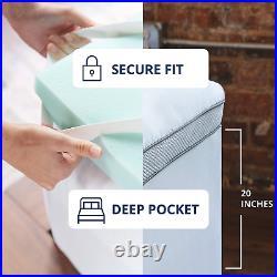Viscosoft 4 Inch Pillow Top Gel Memory Foam Mattress Topper King Serene Dual L
