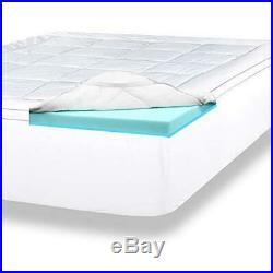 Viscosoft 4 Inch Pillow Top Gel Memory Foam Mattress Topper Queen Mattress Pad