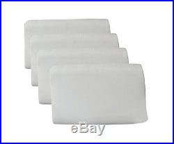 White Cushion Gift Art Home Decor 4 Pcs Interior Visco Memory Foam Pillow 14X23