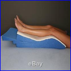 White Leg Wedge Pillow Memory Foam Wedges for Leg Elevation Adjustable Help