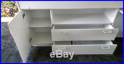 White Mid Sleeper Cabin Bed Storage & Desk Reversible Ladder 2 Free Pillows