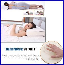 Winthome Adjustable Memory Foam Pillow for Neck Back Shoulder Pain, Cooling Gel