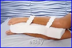 XL -100% Memory Foam Knee Pillow For Side Sleepers, Pain Relief Made in USA
