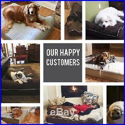 X Large Jumbo Orthopedic Memory Foam Dog Bed Pillow Removable Cover Anti Slip