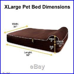 Xxl Dog Bed Big Thick Memory Foam 3 Pillow Waterproof Protector Accessories New