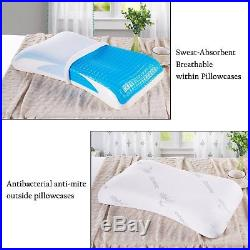 YALOVO GEL Cooling Pillow Memory Foam Pillow With Cooling Gel Comfortable Bed &
