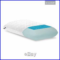Z Gel-Infused Dough Memory Foam Bed Pillow + COOLING DUAL Z GEL LIQUID PACKETS