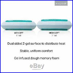 Z Gel Infused Dough Memory Foam Pillow With Double Liquid Packets 5 year