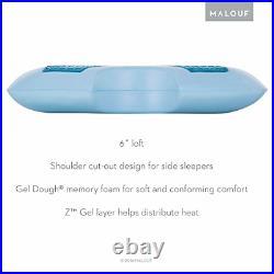 Z Side Sleeper Shoulder Cutout Gel Dough Memory Foam Pillow with Liquid Gel