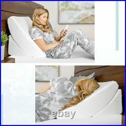 Zenbi 2 Piece Orthopedic Bed Wedge Pillow Set Adjustable Memory Foam Pillow f