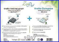 Zenpur Pillows 2 Pack 1 Organic Bamboo Fibre Memory Foam Pillow 100% Enriched +