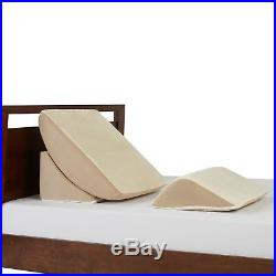Zero Gravity Adjustable 3 Piece Wedge System Memory Foam Flat Topper Bed Pillow